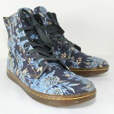 Dr. Martens Ladies Multicolored Floral Hackney Laced Ankle Boots Size 9