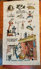 Vintage Linen Tea Towel - Colonial Candle Making by Wert