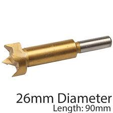 PRO 26mm titanio rivestito Forstner Bit – BASE PIATTA foro visto/Core TRAPANO CUTTER
