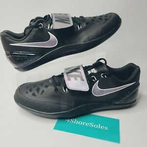 NEW Nike Men's SIZE 12 Zoom Rotational Track Discus Black Throw Shoes 685131 003