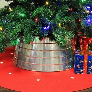 Metal Ring Christmas Tree Collar & Willow Tree Skirt Silver