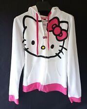 NWT Sanrio Hello Kitty Girl's White/Pink full Zip Hoody Size L