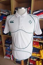 Rugby Polo Shirt Irland Ireland (L) Canterbury Trikot Jersey Weiss White
