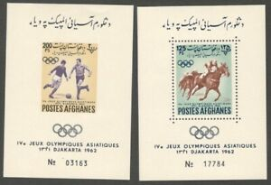 AOP Afghanistan 1962 JEUX Olympics MS perf & imperf MNH (2)