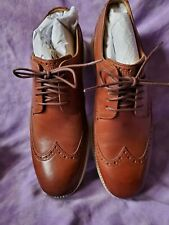COLE HAAN ORIGINAL SHORT WING OXFORD 10M NEW WOODBURY/IVORY New