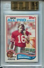 1982 Topps Football #488 Joe Montana Card BGS 9.5
