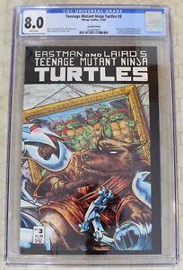 TEENAGE MUTANT NINJA TURTLES #3 CGC 8.0 (1988) 2nd print  (Mirage Studios) !!
