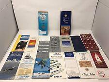 Lot of 16 vintage 1990's Airline Pamphlets