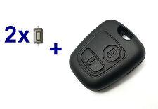 2T Auto Schlüssel Gehäuse für CITROEN SAXO XSARA PICASSO C2 C3 C4 + 2x Taster