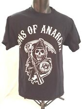 Sons of Anarchy Mens T Shirt Sz M Black w White Graphic of Grim Reaper Cotton