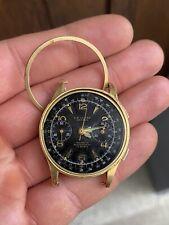 Golduhr Herren L.A Leuba Geneve Chronograph 585 Armbanduhr Vintage 50er Jahre