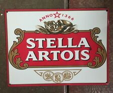 Stella Artois Belgian Pilsner Beer Bottle Label Craft Brewery Metal Sign Belgium