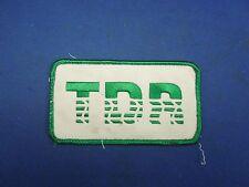Vintage TDR  Company Uniform Logo Patch Badge
