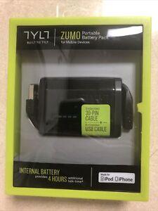 Travel Zumo Apple iPhone/ iPad 30 Pin 1500mah Portable Battery Bank - Black New