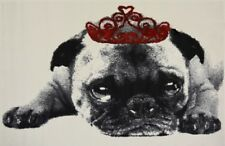 "Cannes Princess Pug Dog Area Rug 170cm X 120cm (5ft 6"" X 4ft)"