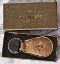 Llavero de piel original PATEK PHILIPPE Nuevo con caja