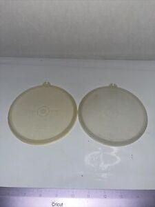 Vintage Tupperware lid 238 Replacement Lid Lot Of 2 Sheer