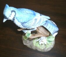 Hand Painted Lefton China Blue Bird on Perch - #2364
