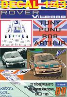 DECAL 1/43 ROVER 3500 VITESSE TONY POND MANX R. 1985 DnF (02)