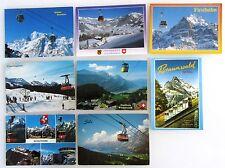 Schweiz Postkarten 8x Sessellift Gondelbahn ua. Grächen, Braunwald, Hasliberg