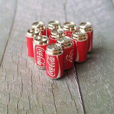 10x COCA-COLA COKE Soda Can Dollhouse Miniature Beverage Drink Wholesale Lot