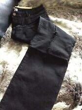 BNWT LOST INK Ladies Black Stretch Jeans With Distressed Knee Detail Size 18