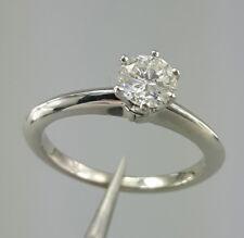 Tiffany & Co. Platinum Round Brilliant Cut Diamond Solitaire Ring Engagement 5