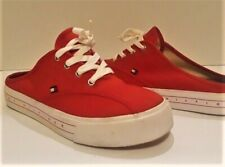 Tommy Hilfiger Red Canvas Mules Size 7 1/2