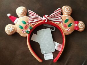 Oreilles Serre-tete Minnie Mickey pain d'épice de Noël Gingerbread Disney World