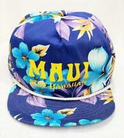 Maui Blue Hawaiian Hibiscus Floral Hat Cap by San Sun