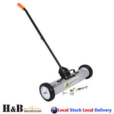 """18"""" Magnetic Sweeper Pickup Tool Heavy Duty Magnet Broom Pick up Tools on"""