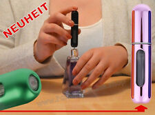 NEUHEIT Pump-Parfümzerstäuber LEER Flasche Flakon f Taschenparfüm 5ml ROSA-CHROM