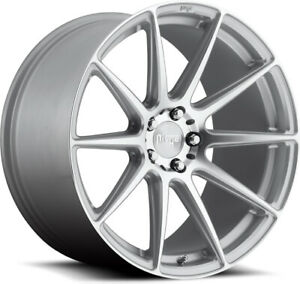"""Alloy Wheels 19"""" Niche Essen Silver Polished Face For MG Hector 19-20"""