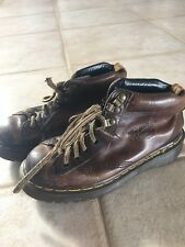 Dr. Martens Dark Brown Leather Boots Size 3 Made in England Doc Martin Air Wair