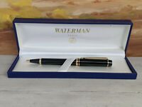 WATERMAN Le Man Black with Gold Trim Ballpoint Pen, NOS!
