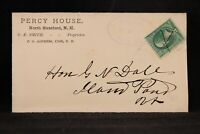 New Hampshire: Coos ca. 1880 Percy House Advertising Cover, Oval County Cancel