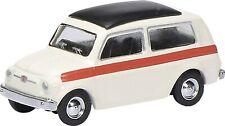 Schuco 26273 Fiat 500 White Estate Stripe 1/87 H0 Scale in Case T48 Post