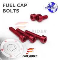 FRW Red Fuel Cap Bolts Set For Yamaha YZF R3 15-16 15 16