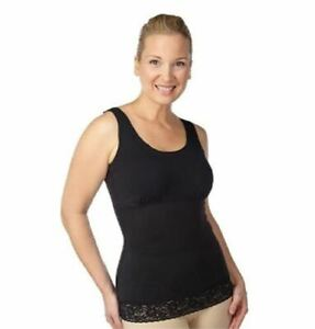 NEW Spanx 1X Hide & Sleek Shaping Lace Scoop Neck Cami Camisole Black