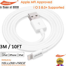 MFI 3M CHARGEUR IPHONE 6- 5S CABLE USB DATA SYNCHRO LIGHTNING 8PIN IPAD MINI AIR
