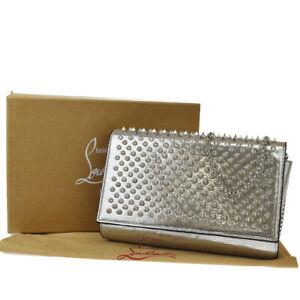 Auth CHRISTIAN LOUBOUTIN Paloma Clutch Chain Shoulder Hand Bag Wallet SR 68SB137