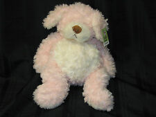 BIG BELLIFULLS GANZ PINK & WHITE DOG TUFFED ANIMAL PLUSH TOY SIGNATURE PUPPY NEW
