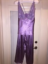 Women's 1X>Sexy 2 Pc Purple Pajamas>> With Matching > Halter TOP and Pants •NEW•