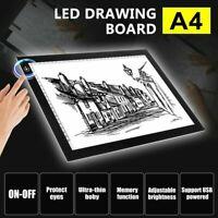 A4 LED Tracing Light Box Board Art Tattoo Drawing Copy Pad Table Stencil Display