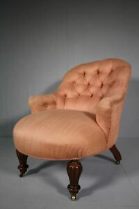 19th Century Antique Upholstered Armchair.