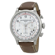 Baume and Mercier Capeland White Dial Chronograph Mens Watch MOA10000