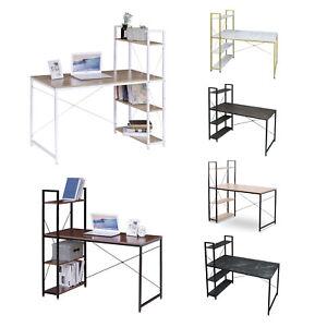 eSituro 1 x Table Bureau d'ordinateur Table de Travail en Bois et Métal