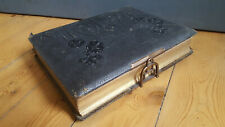 Victorian Photo Album, Leather 20 pictures inc. Family Portraits, Army Boer War