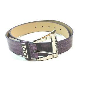 Rocawear Purple Faux Snakeskin Belt Womens XL Roca Wear NEW