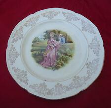 Art Deco Kirklands Embassy Ware Etruria England Plate *Crinoline Lady Pink Dress